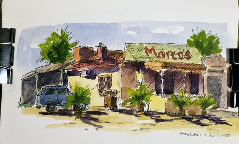 Marco's- Watercolor Line and Wash