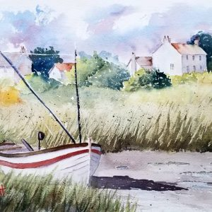 Marsh Boat - Watercolor