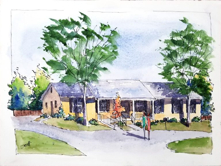 North Alabama Psychiatric Assoc.- Watercolor Line and Wash