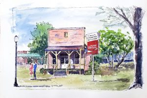 Eunice's- Watercolor Line and Wash
