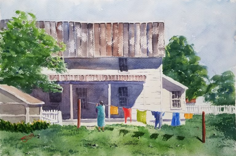 Laundry - Watercolor