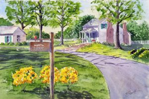 Springtime, Mooresville - Watercolor
