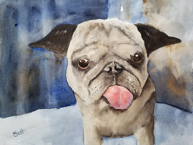 Gracie - Watercolor